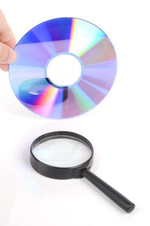 DVD and magnifier photo