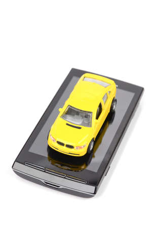 Toy car and smart phone Stock Photo - 12293145