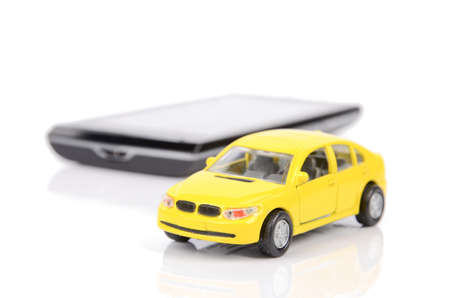 Toy car and smart phone Stock Photo - 12293143