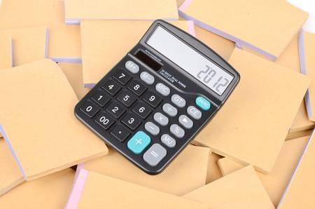 Documents and calculator photo