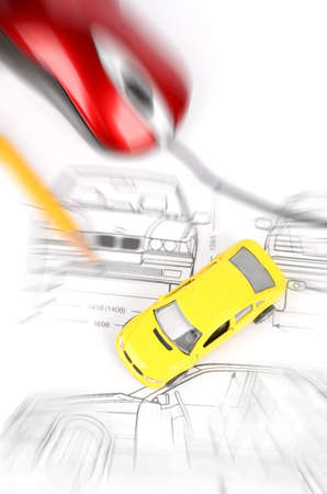 Car blueprint Stock Photo - 12289769