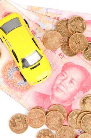 yuan: Toy car and chinese yuan