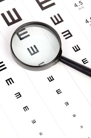 Magnifier and eye chart photo