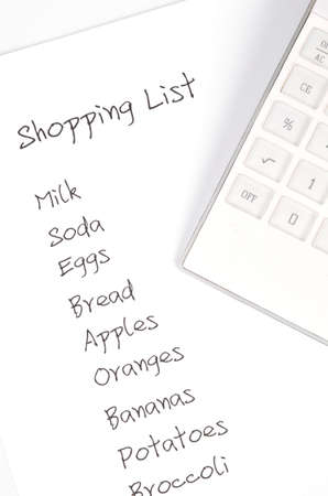 Shopping list Stock Photo - 12289678