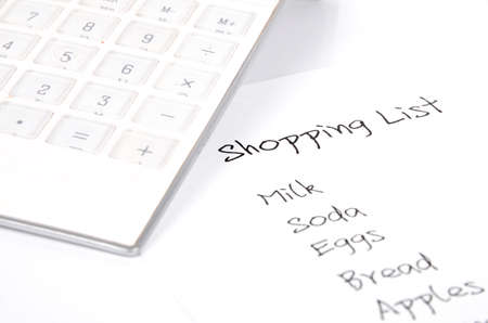 Shopping list Stock Photo - 12289670