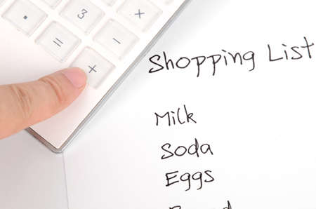 Shopping list Stock Photo - 12289510