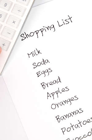 Shopping list Stock Photo - 12289482