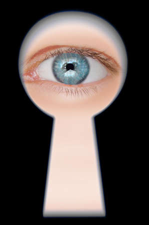 Eye in keyhole photo