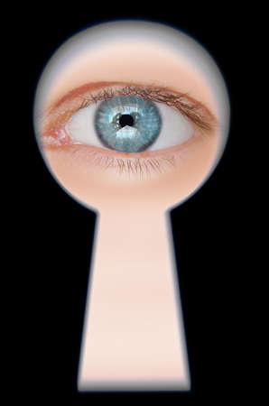Eye in keyhole photo