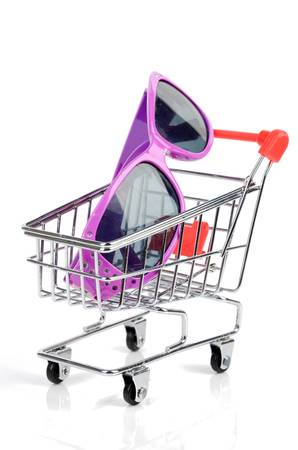 Shopping cart and sunglasses photo