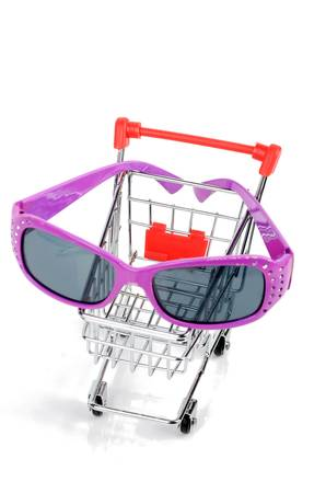 Shopping cart and sunglasses Stock Photo - 12341473