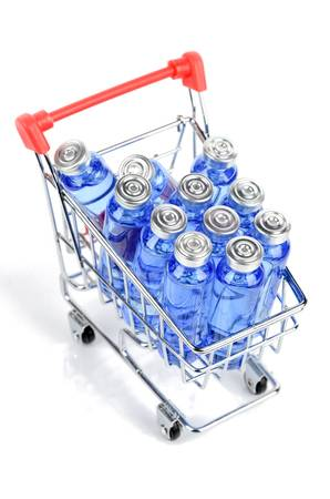 Shopping cart and vials Stock Photo - 12341515