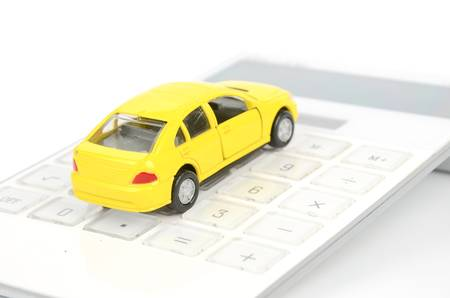 Toy car and calculator Stock Photo - 12445947