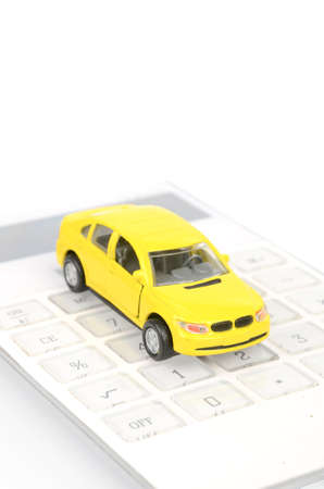 Toy car and calculator Stock Photo - 12445796
