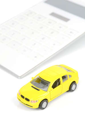 Toy car and calculator Stock Photo - 12445867