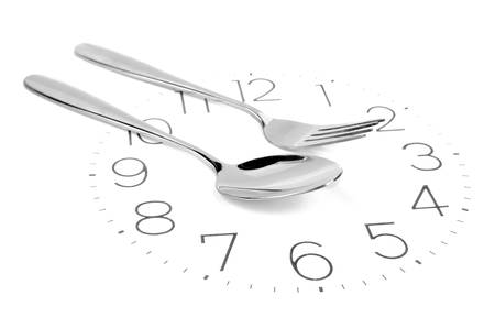 Fork on clock face