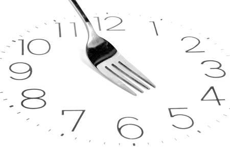 regimen: Fork on clock face