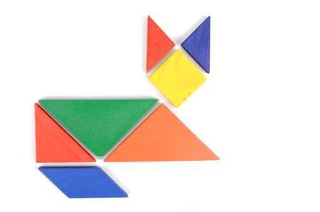 Chinese tangram Stock Photo