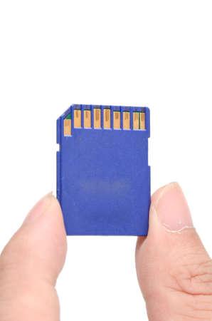drive nail: Flash card in hand