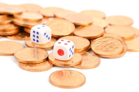 Coins and dices photo