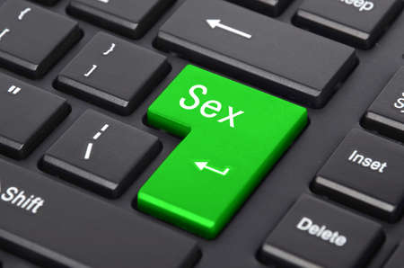sex education: Computer keyboard