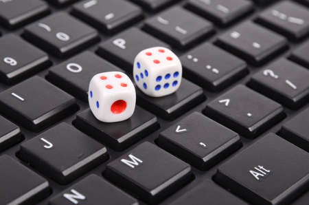 Keyboard and dices photo