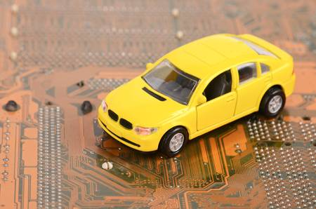 Toy car and circuit board photo