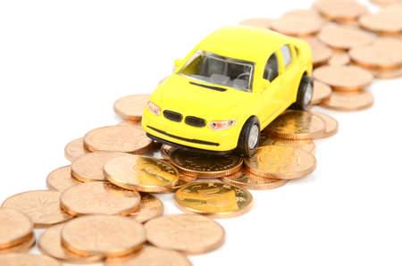 Toy car and coins Stock Photo - 12503617