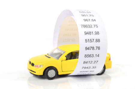 Toy car and receipt