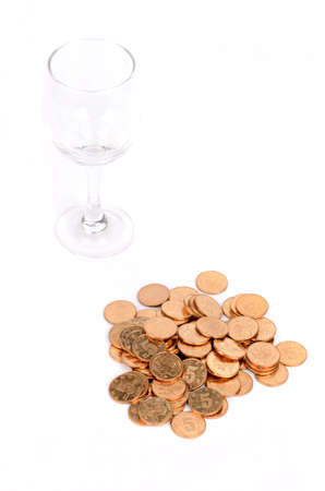 Coins and goblet photo