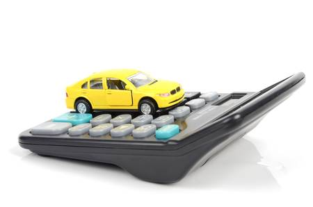 Toy car and calculator Stock Photo - 12543303