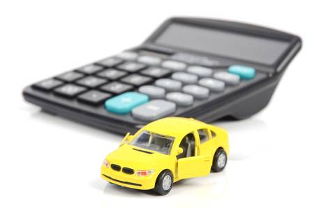Toy car and calculator Stock Photo - 12543840