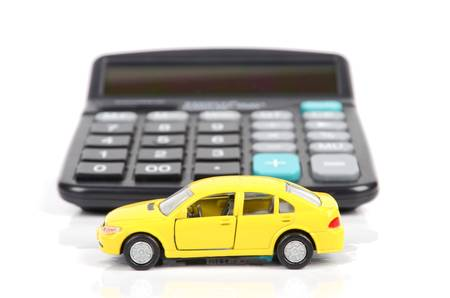 Toy car and calculator Stock Photo - 12543954