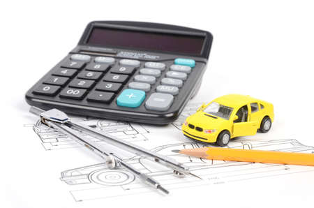 Car blueprint Stock Photo - 12593929