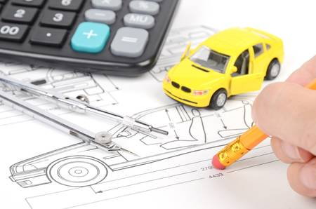 Car blueprint Stock Photo - 12593933