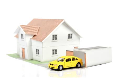 domestic garage: Model house and car