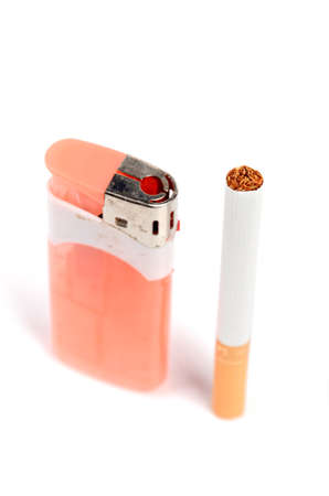 Cigarettes and lighter photo
