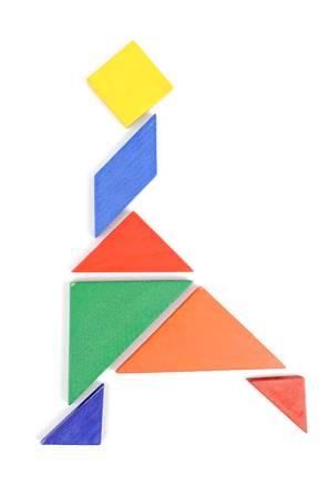 color tangram: Chinese tangram Stock Photo