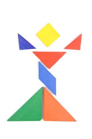 tangram: Chinese tangram Stock Photo