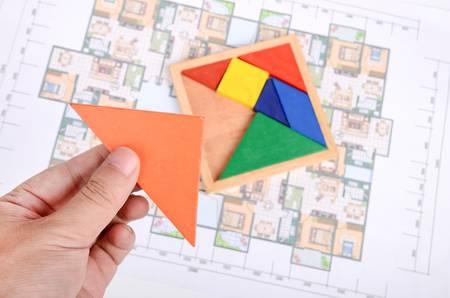 prefabricated: Blueprint and chinese tangram