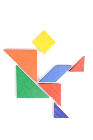 color tangram: Chinese Jigsaw puzzles