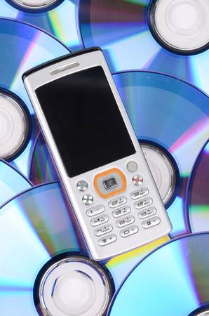 Mobile phone and DVD photo