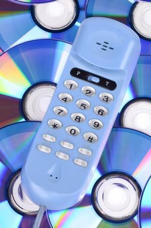 Tellphone and DVD photo