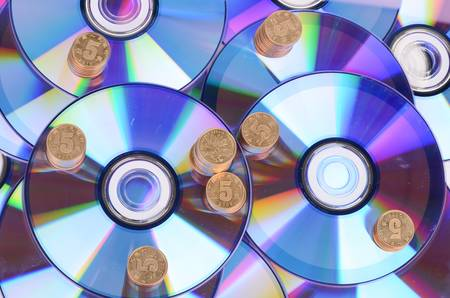 DVD and coins photo