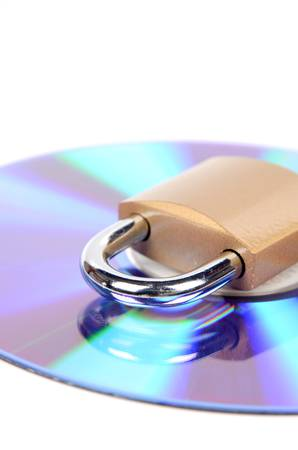 DVD and padlock photo