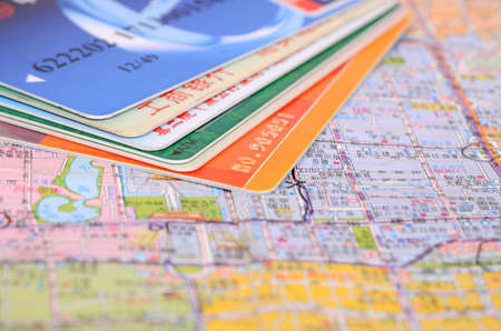 Credit card on map Stock Photo - 12690196