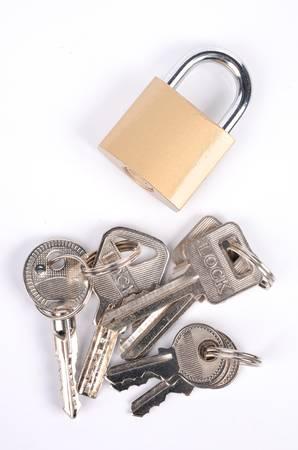 Keys and lock Stock Photo - 12699242
