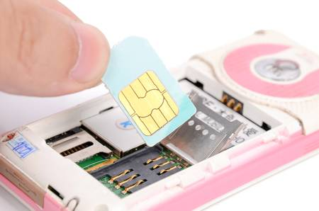 Sim card and phone Stock Photo - 12698842