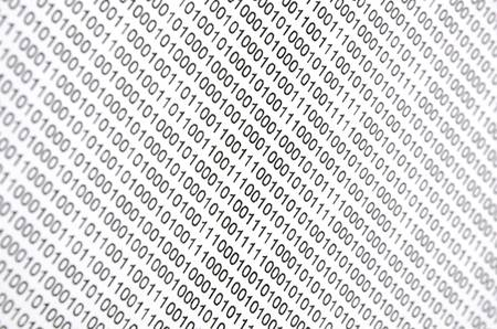 Binary code photo