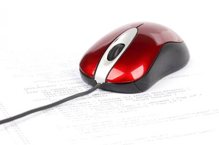 Computer mouse and html Stock Photo - 12786113